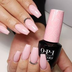 """Pretty color called """"small + cute"""" from the new hello kitty collection from @opi_products  #sculpturednails#sculptednails#youngnails#nailporn#swarovskinails#vegas_nay#hudabeauty#wakeupandmakeup#laurag_143#sabrina_ils#inssta_makeup#fcnails"""