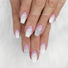 new years nails glitter \ new years nails . new years nails acrylic . new years nails gel . new years nails glitter . new years nails dip powder . new years nails design . new years nails short . new years nails coffin Cute Acrylic Nails, Acrylic Nail Designs, Nail Art Designs, Acrylic Nails For Summer Glitter, Awesome Nail Designs, White Summer Nails, Sparkle Nail Designs, White Tip Nails, White Glitter Nails