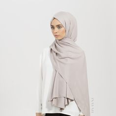 INAYAH | Enjoy wearing our new collection of rayon #hijabs now available in a range of subtle and cool colours. This Feather Grey Rayon Hijab is a definite must-have! Visit www.inayah.co to browse our new range of styles and colours.