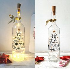 Check out this item in my Etsy shop https://www.etsy.com/uk/listing/569805201/christmas-lighting-wine-bottle-christmas