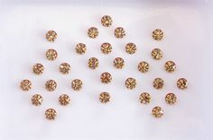 27 Antique Gold Stick On Fake Nose Studs With Gold by Beauteshoppe