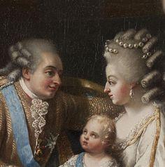 Louis XVI, Marie Antoinette and their first son, Louis Joseph. image: (C) Château de Versailles, Dist. RMN-Grand Palais / Christophe Fouin
