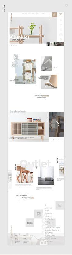 Maquette aérée - grands blancs - jeux de typo sur plusieurs plans pour le même mot ------------ Les Meublés | Free PSD on Web Design Served: