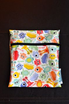Babyville Monsters Reusable Waterproof by SpoonerSistersDesign, $8.00 Wet Bag, Monsters, Wallets, Coin Purse, Gift Ideas, Embroidery, Purses, Sewing, Unique Jewelry