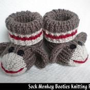 "Sock Monkey Booties - saving this so someday I remember to ""google"" a pattern when the need arises"