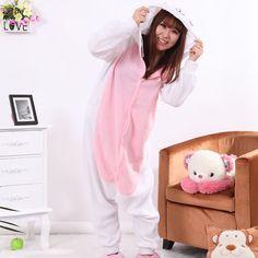 Adult Pajamas Animal White Rabbit Pajamas Polar Flleece Pajamas Kigurumi