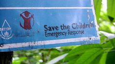 Save the Children Sign