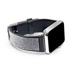 1d8d0c63d Apple Watch Black Replacement Band with Crystal Swarovski Elements - Sheer  Elegance Collection