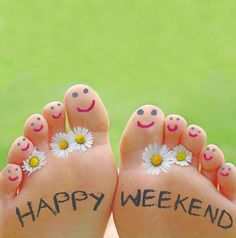 Had a stressful week? Reflexology will make you feel better! Call to book a session with us today! Happy Weekend Quotes, Cute Good Morning Quotes, Good Morning Good Night, Happy Day, Bon Weekend, Hello Weekend, 40 Y Fabuloso, Funny Fingers, Spa Manicure