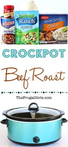 Ranch Onion Crock Pot Beef Roast Recipe! ~ from TheFrugalGirls.com ~ Take the complicated out of dinner recipes when you cook your Roast in the Crockpot!  This Easy Slow Cooker Recipe is the perfect comfort food for the whole family! #thefrugalgirls