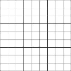 blank sudoku