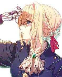 Anime,Аниме,Violet Evergarden,Violet Evergarden (character),shishamo (masato k) Manga Kawaii, Art Manga, Chica Anime Manga, Kawaii Anime Girl, Anime Art Girl, Anime Girls, Anime Chibi, Art Anime Fille, Violet Evergreen