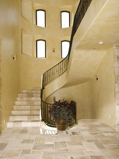 Mediterranean Staircase Painted Stairs Design, Pictures, Remodel, Decor and Ideas - page 2