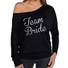 Team Bride Shirt. Bridesmaid Shirt. Wedding Party. Bridal Party. Off The Shoulder Top. Bachelorette Party Shirt. Bride Tribe. by SoPinkUK on Etsy