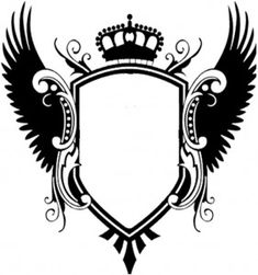 Blank Family Crest Coat of Family Crest Symbols, Family Crest Tattoo, Symbol Design, Logo Design, Half Sleeve Tattoo Stencils, Wings Png, Dance Background, Crown Tattoo Design, Poster