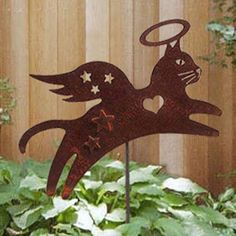 Angel Cat Garden Stake--I have 2 places in my yard for one of these...2 angel kitties, Britney and Eliot.