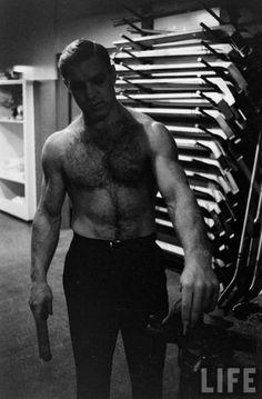 hockey - Bobby Hull Chicago Hockey, Bobby Hull, Superman Comic, Blackhawks Hockey, Tampa Bay Lightning, Hockey Players, Life Magazine, Hairy Men, History Facts