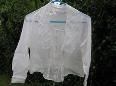 Early 1900's Armistice Linen Lace Blouse White by TheIDconnection, $75.00    From the estate of Lenora Dorian who taught generations of children how to play piano from her Galveston Island home music studio