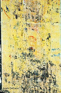 NYC Wall Abstract in Yellow