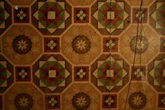Slifer House Museum Collection - Victorian Linoleum Tile Victorian Decor, Victorian Homes, Museum Collection, Vintage Floral, Plumbing, Carpets, Kitchen Ideas, Tile, Art Deco