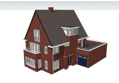 Afbeeldingsresultaat voor isometrische tekening huis