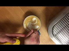 Backstage Barista School - latte art - how to dragon
