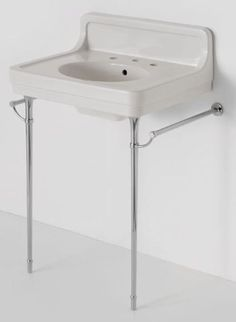 Retro Bathroom Sinks On Chrome Legs Alden From Waterworks