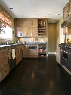Dark floor w/ light Cabinets