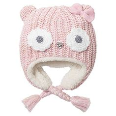 Winter Fleece Skiing Caps with Warm Earflap for Kids Boys Girls ERISO Baby Toddler Knitted Hats