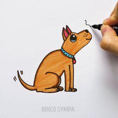 Cute Disney Drawings, Cute Easy Drawings, Art Drawings For Kids, Beautiful Drawings, Animal Drawings, File Decoration Ideas, Unicorn Drawing, Cute Doodle Art, Baby Art