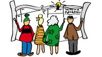 Kuva: Toimintamallin tunnuskuva Appreciative Inquiry, Peanuts Comics, Appreciation