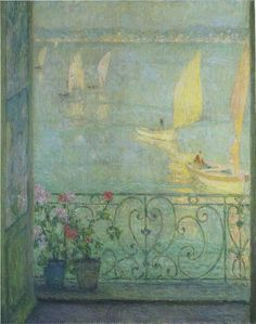 The Window at Croisic - Henri Le Sidaner