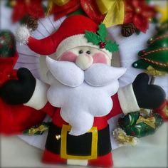 Novos modelos de guirlandas para este Natal. Espero que gostem. ;-) Mix figuras de Natal com fundo vermelho! Bonec...