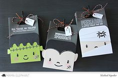 Hello friends! I can't get enough of the awesome Mama Elephant Favor Bags and Add Ons. The newest Halloween Add Ons, are perfect not only for adorning the Favor Bags but for cards, scrapbook pages, decor, and more! Lawn Fawn...