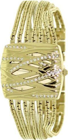 AK Anne Klein Women's AK-1042CHCV Swarovski Crystal Gold Tone Bracelet Watch Anne Klein. $80.75. Quartz Movement. Mineral Crystal. 30 Meters / 100 Feet / 3 ATM Water Resistant. 32mm Case Diameter. Save 15%!