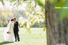 Nazareth Hall Ohio fall wedding   red details  http://marywyar.com