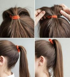 If you know a good hair hack you go by chances are you use it often. But it doesn't hurt to learn new hair hacks to make your hair less frizzy and set up for a great hair day! Summer Ponytail, Perfect Ponytail, About Hair, Hair Day, Pretty Hairstyles, Easy Hairstyles, Waitress Hairstyles For Long Hair, Ponytail Hairstyles Tutorial, Elegant Hairstyles