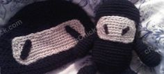 Free Chibi Ninja Beanie Hat Crochet Pattern