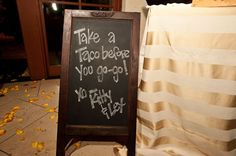 """Take out""-style favors in the form of delicious tacos! Photo by Jennifer Lindberg Weddings"