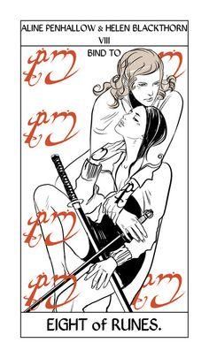 Aline Penhallow & Helen Blackthorn - The Mortal Instruments - TMI Tarot Card
