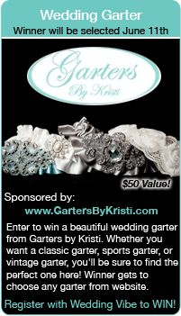 Wedding Giveaways - Win a bridal garter in this sweepstakes.