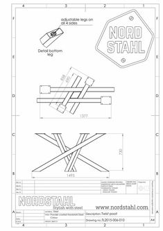 Industrial Table Legs, Industrial Design Furniture, Metal Table Legs, Metal Dining Table, Steel Table, Dining Table In Kitchen, Metal Furniture, Dinner Tables Furniture, Wood Craft Patterns