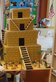 Ziggurats are temples