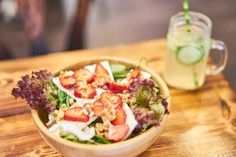 Strawberry, feta, walnut and spinach Salad by Café Buur❤️in Cologne