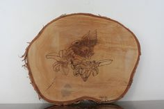 Wood Burned Art / Hummingbird on White Birch Wood Round by BrashersWoodDesigns on Etsy Natural Wood Crafts, Wood Burning Art, Wood Rounds, Hummingbird, Birch, Etsy, Hummingbirds