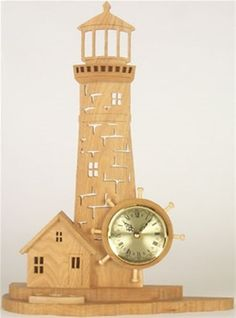 Lighthouse Clock Plan This great plan is sure to be a hit with any lighthouse fan you know! This terrific design is easy to build and will be a great clock project. Make the Lighthouse Clock your next