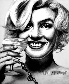 Marilyn Monroe Pop Art Print  11x14 Black and by ARTWORKbyMALLORY, $25.00