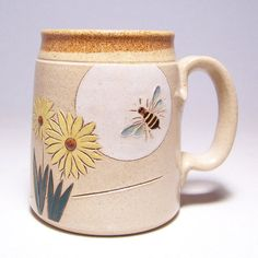 Bee decorations french and cottage chic on pinterest - Two and a half men coffee mug ...