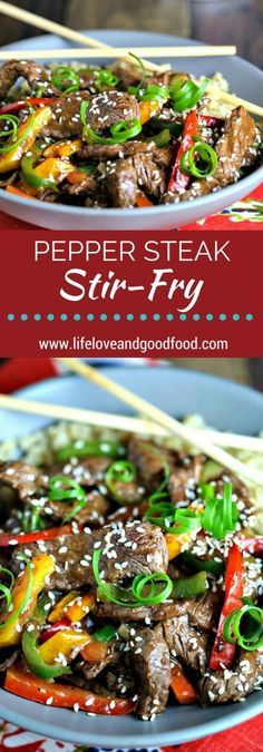 Stir-fry are the easiest and most satisfying dinner recipes for any day of the week. Many can be tossed together in less than 30 minutes. Making stir-fry the perfect dinner for everyone. Enjoy these 20 special stir-fry recipes. Steak Stirfry Recipes, Easy Steak Recipes, Grilled Steak Recipes, Stir Fry Recipes, Healthy Diet Recipes, Healthy Meal Prep, Beef Recipes, Cooking Recipes, Yummy Recipes