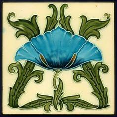 Minton,Tile, Art Nouveau, 1905 (Erdinç Bakla archive)